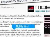 """""""Mobile First dixit Google février... 2010 plus jamais mobile"""