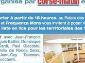 Débat public organisé RCFM Corse-Matin soir 18h00 Palais Congrès d'Ajaccio.