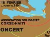 """Concert """"solidarité Haïti"""" soir partir l'Université Corse."""