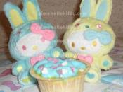 Hello kitty bunny colorful cupcakes