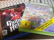 Sonic SEGA Stars Racing, GUITAR HERO 1...