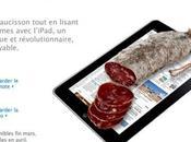 l'iPad planche découper saucisson