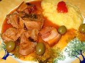 Sauté Veau Corse Olives Polenta