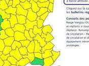 "Alerte orange ""neige verglas"" Météo-France Corse dernier bulletin 22h30."