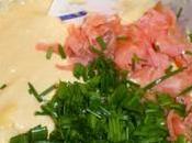 Cake saumon fumé, l'oseille ciboulette