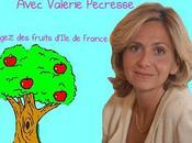 Avec Valérie Pécresse, mangeons fruits d'Ile France