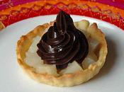 Tartelettes poires pâte tartiner chocolat noir