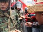 soldats sont retirés plusieurs campements après rassemblement chemises rouges