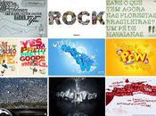 affiches publicitaires typographiques