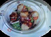 Salade saint jacques vinaigrette balsamique