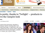 """teints pâles mode grâce """"Twilight"""""""