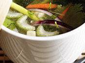 Nage Saint-jacques safran petits légumes