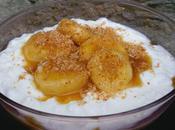 Faisselle banane caramélisée noix coco
