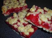 Carrés croustillants fraises
