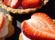 Tartelettes fraises, panna cotta citronnée