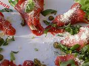 Cônes carpaccio Mesclun Parmesan