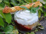 Verrine nectarines chantilly verveine sacristains amandes-pistaches