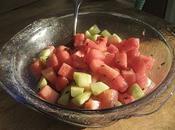 Salade concombre melon d'eau