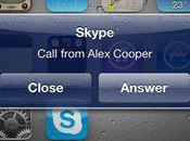 Skype pour iPhone gère multitâche 3G...