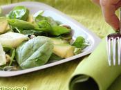Salade toute verte assiette grise
