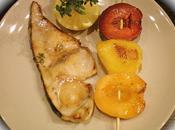Espadon marine brochette fruits .....