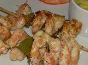 Crevettes marinees sauce basilic