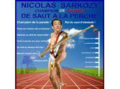 SARKOZY médaille d'or saut PERCHE