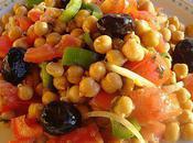 Salade pois chiche miel