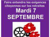 Manifestations mardi septembre nous soyons, battons retraite