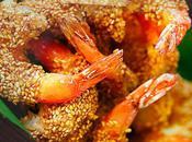 Crevettes sautées minute graines sésame
