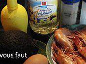 mange quoi demain? salade d'avocats crevettes