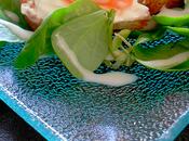Bruschette saumon fumé, fromage frais mâche