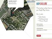 Personnalisez enveloppes manière simple original l'aide Google Earth