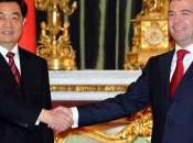 Jintao reçoit Dmitri Medvedev