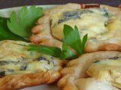 Tartelettes apéritives Fourme d'Ambert pâte coing