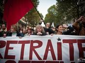 Manifestation contre réforme retraites. octobre, Paris.