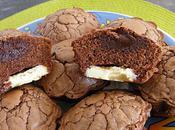 Muffins chocolat noir, fourrés blanc