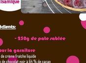 Tarte chocolat framboises, balsamique