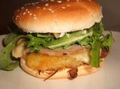 Burger galette pommes terre échalotes, andouille crème moutarde