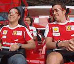 Fernando Alonso Felipe Massa font tour montagnes russes