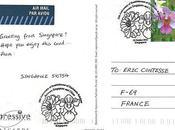 cartes postale spéciales Singapour