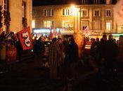 réforme retraites manifestation nocturne Avranches, mardi novembre 2010