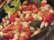 Haricots blancs tomates fraîches