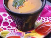 Soupe épicée orange (carottes, potimarron, oranges) cacao