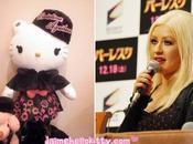 peluche Hello Kitty pour Christina Aguilera