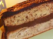 Délice pralin marrons, fourrage chocolat-noisettes, glaçage chocolat noir (avec p'tite pointe rhum