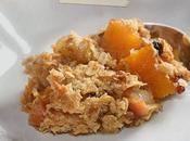 Crumble potiron graines courge flocons d'avoine