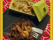 Curry crevette lait coco choux chinois sauté soja