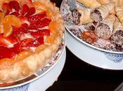 tarte fraise mandarines pate feuilleté cornet chocolat