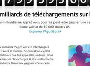 milliards téléchargements l'App Store